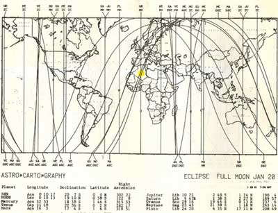 Page from the Astro*Carto*Graphy Source Book o Mundane Maps for 1981