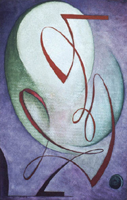 Dane Rudhyar Painting titled Antiphony 1949
